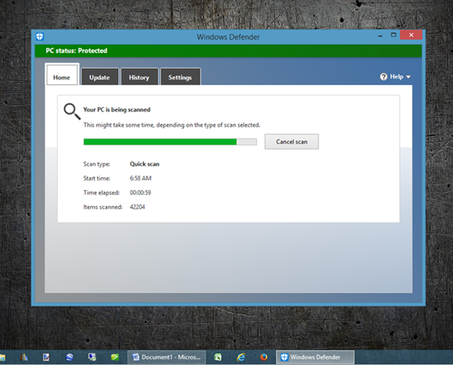 Computer Virus Removal - Scanning Windows Defender