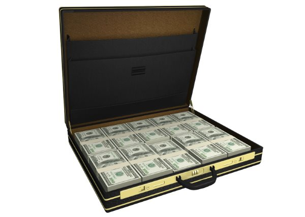 Protect Against Ransomware - Suitcase Full of Money